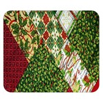 Christmas Quilt Background Double Sided Flano Blanket (Small)  50 x40 Blanket Front