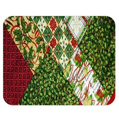 Christmas Quilt Background Double Sided Flano Blanket (Medium)