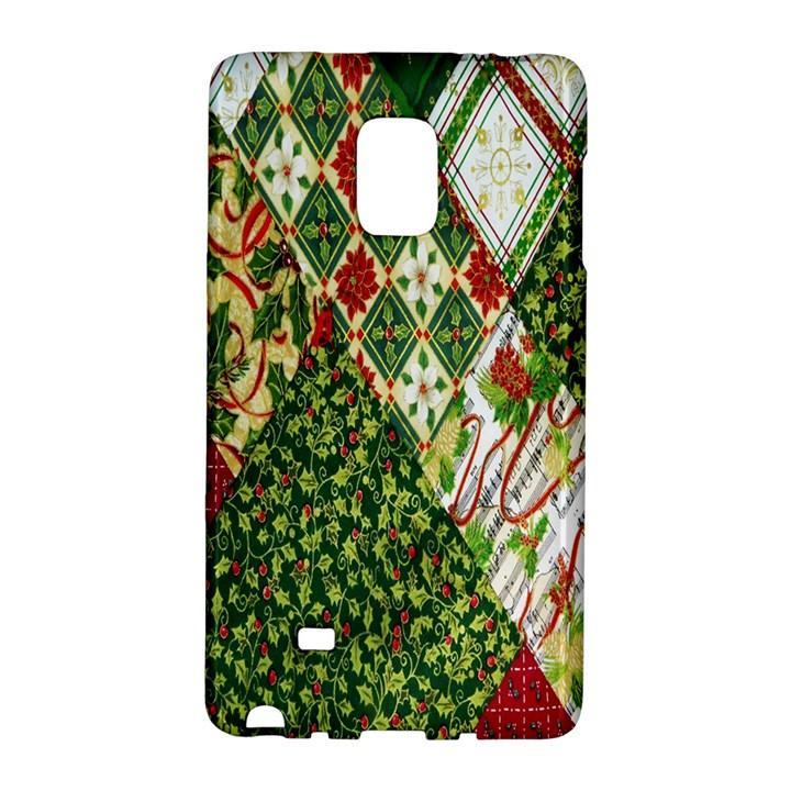 Christmas Quilt Background Galaxy Note Edge