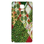 Christmas Quilt Background Galaxy Note 4 Back Case Front