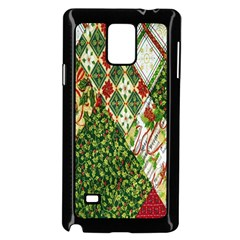 Christmas Quilt Background Samsung Galaxy Note 4 Case (Black)