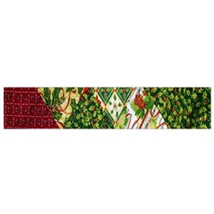 Christmas Quilt Background Flano Scarf (Small)
