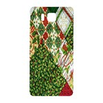 Christmas Quilt Background Samsung Galaxy Alpha Hardshell Back Case Front