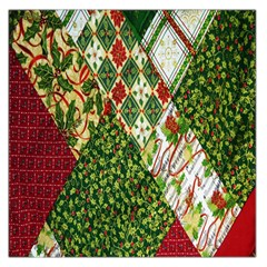 Christmas Quilt Background Large Satin Scarf (Square)