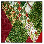 Christmas Quilt Background Large Satin Scarf (Square) Front