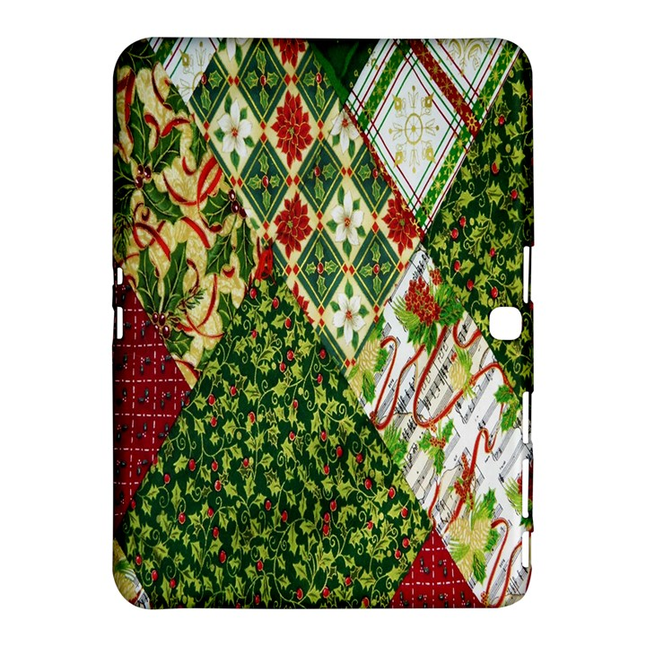 Christmas Quilt Background Samsung Galaxy Tab 4 (10.1 ) Hardshell Case