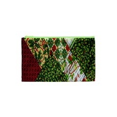 Christmas Quilt Background Cosmetic Bag (XS)