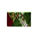 Christmas Quilt Background Cosmetic Bag (XS) Back