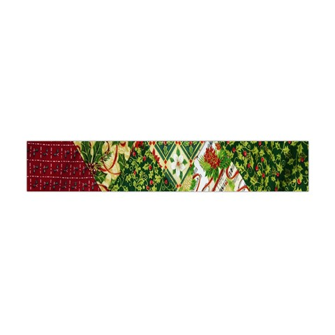 Christmas Quilt Background Flano Scarf (Mini)