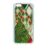 Christmas Quilt Background Apple Seamless iPhone 6/6S Case (Color) Front