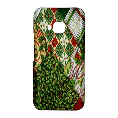 Christmas Quilt Background HTC One M9 Hardshell Case