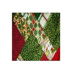 Christmas Quilt Background Satin Bandana Scarf Front