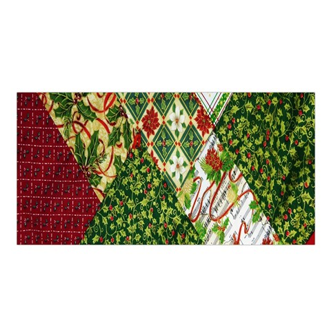 Christmas Quilt Background Satin Shawl