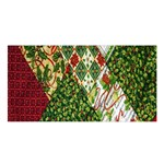 Christmas Quilt Background Satin Shawl Front