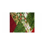 Christmas Quilt Background Satin Wrap Front