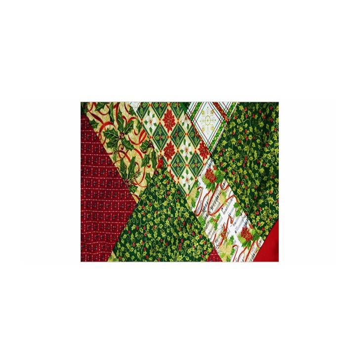Christmas Quilt Background Satin Wrap