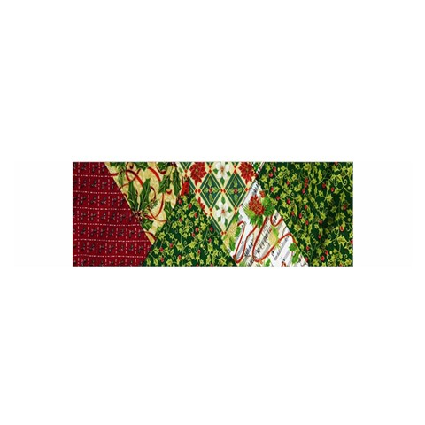 Christmas Quilt Background Satin Scarf (Oblong)