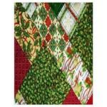 Christmas Quilt Background Drawstring Bag (Large) Back