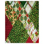 Christmas Quilt Background Drawstring Bag (Small) Front