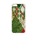 Christmas Quilt Background Apple Seamless iPhone 6/6S Case (Transparent) Front