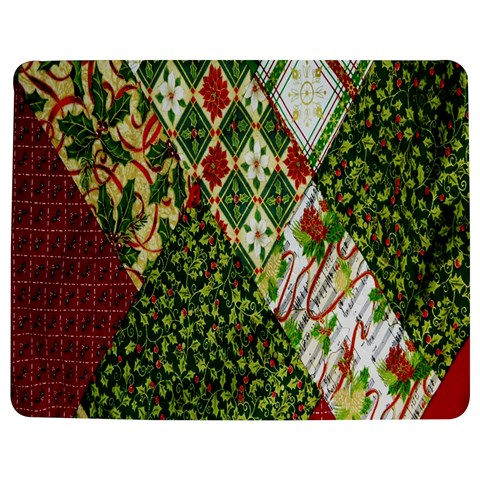 Christmas Quilt Background Jigsaw Puzzle Photo Stand (Rectangular)