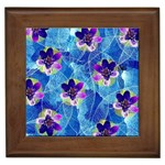 Purple Flowers Framed Tiles Front