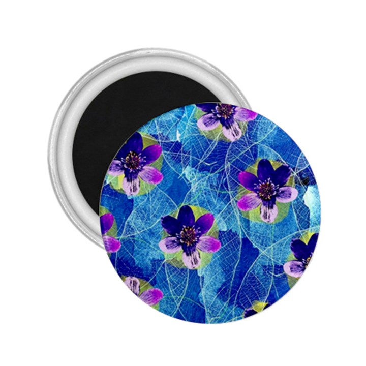 Purple Flowers 2.25  Magnets