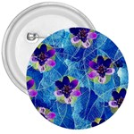Purple Flowers 3  Buttons Front
