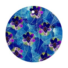 Purple Flowers Ornament (round)