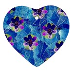 Purple Flowers Ornament (Heart)  Front