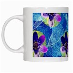 Purple Flowers White Mugs Left