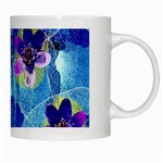 Purple Flowers White Mugs Right