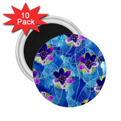 Purple Flowers 2 25  Magnets (10 Pack)