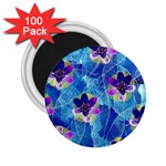 Purple Flowers 2.25  Magnets (100 pack)  Front