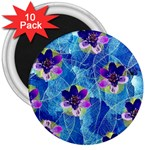 Purple Flowers 3  Magnets (10 pack)  Front