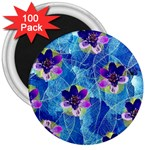 Purple Flowers 3  Magnets (100 pack) Front