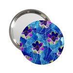 Purple Flowers 2.25  Handbag Mirrors Front