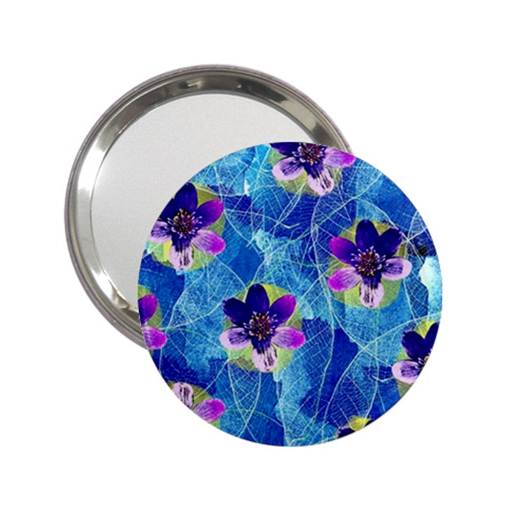 Purple Flowers 2.25  Handbag Mirrors