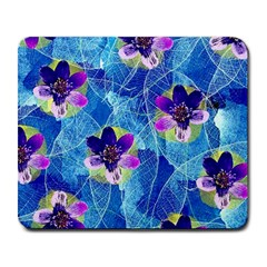 Purple Flowers Large Mousepads