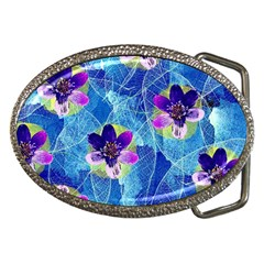 Purple Flowers Belt Buckles