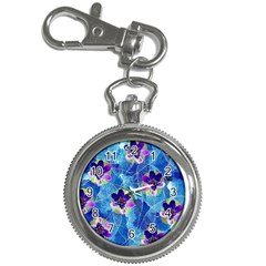 Purple Flowers Key Chain Watches