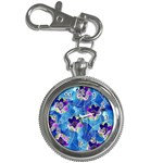 Purple Flowers Key Chain Watches Front