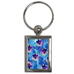 Purple Flowers Key Chains (Rectangle)  Front