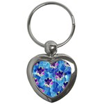 Purple Flowers Key Chains (Heart)  Front