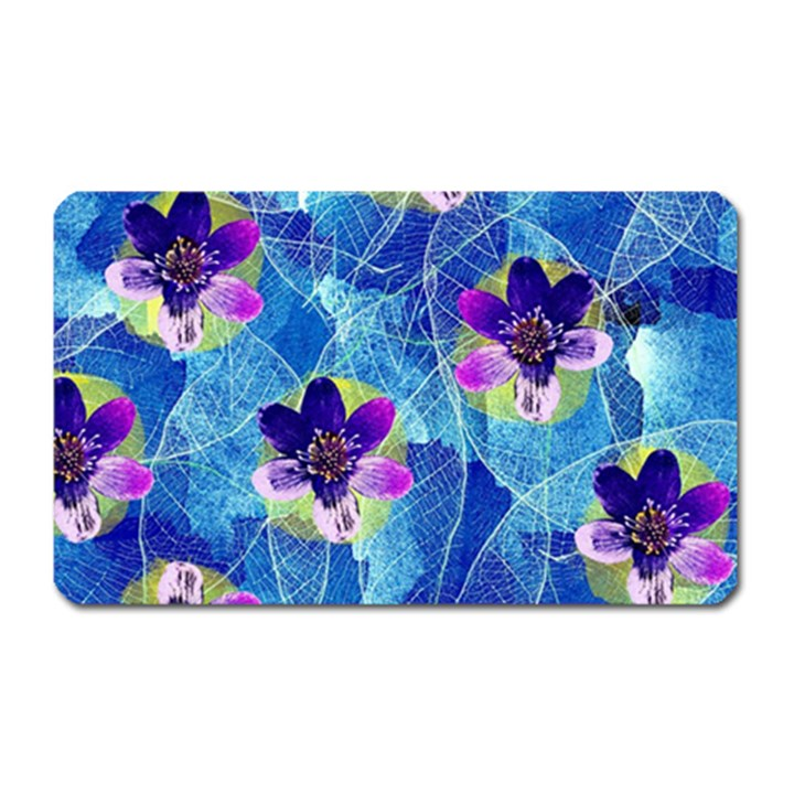 Purple Flowers Magnet (Rectangular)