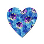 Purple Flowers Heart Magnet Front