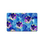 Purple Flowers Magnet (Name Card) Front
