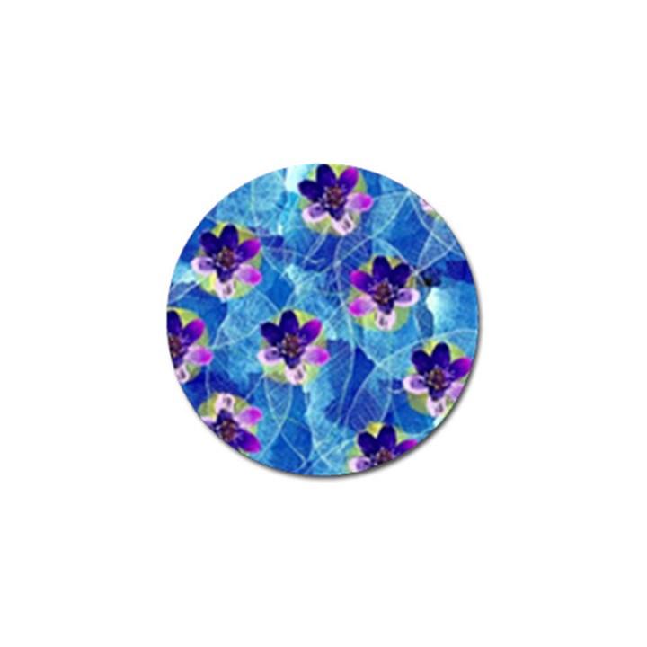 Purple Flowers Golf Ball Marker (10 pack)