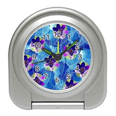 Purple Flowers Travel Alarm Clocks