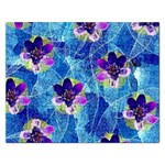 Purple Flowers Rectangular Jigsaw Puzzl Front